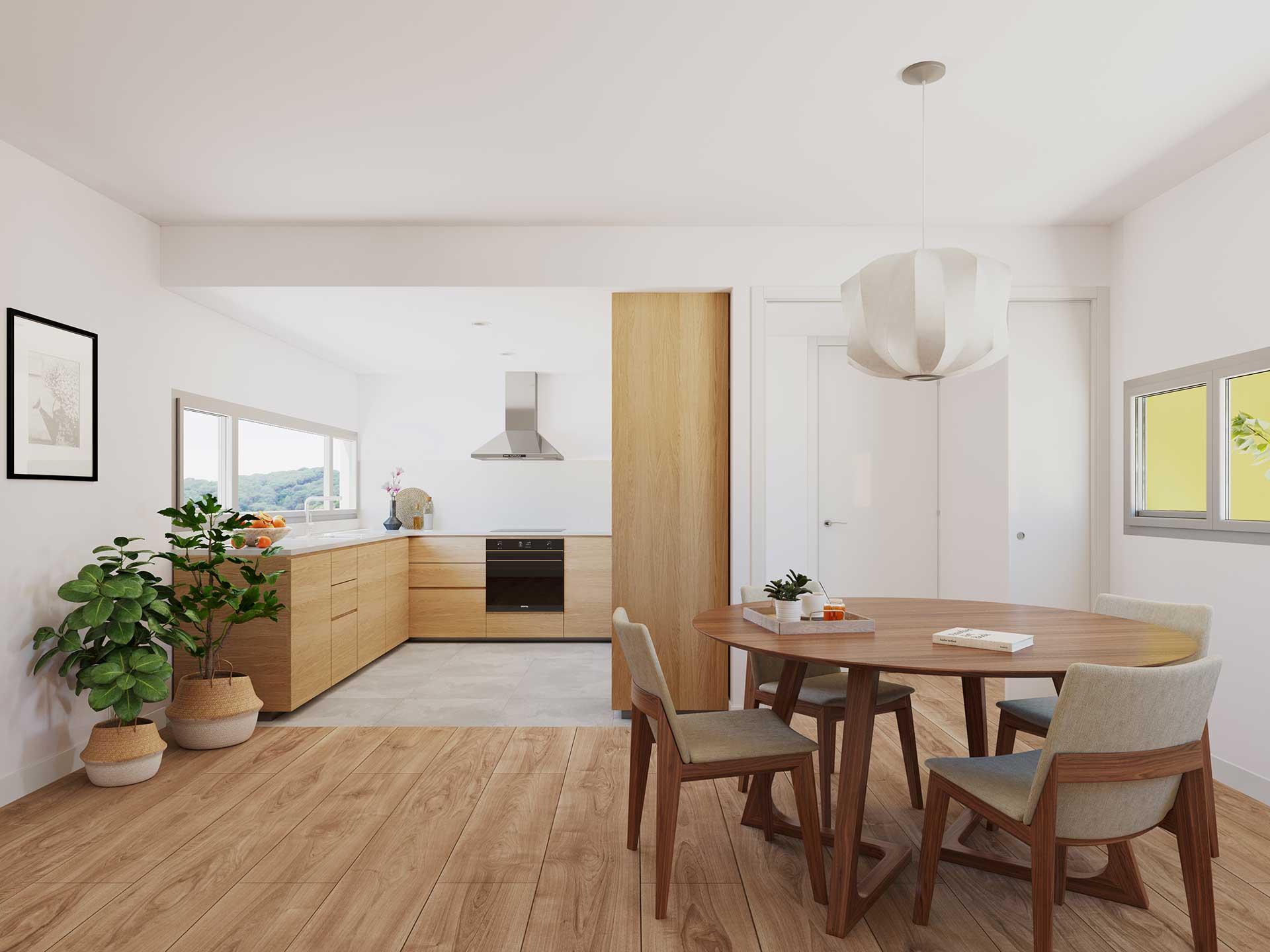 Render interiors - Can Canal - Pich Architects - Compra Venta Cases Bioclimàtiques I Ecològiques Cabrera de Mar, Barcelona