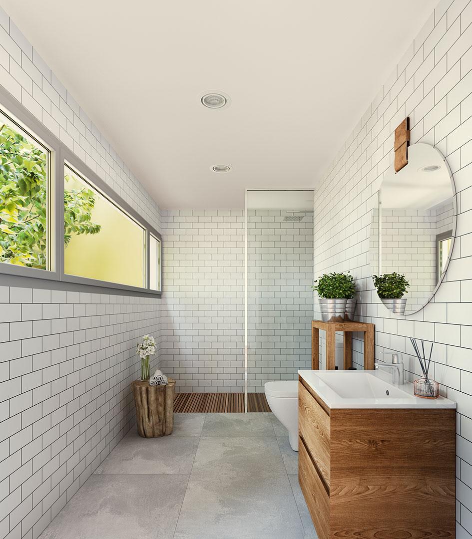 Render interiors - Can Canal - Pich Architects - Estalvi energètic - Compra Venta Cases Bioclimàtiques I Ecològiques Cabrera de Mar, Barcelona